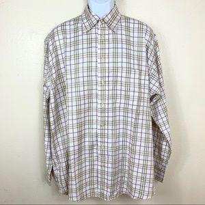 Burberry Men's shirt Plaid Button down size Large